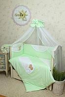"""Комплект постельного белья для новорожденных """"Солнышко"""" 7 предметов  GreTa Lux"""