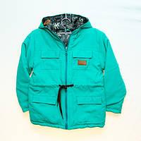 Детская демисезонная куртка парка зелёная 98р, 110р