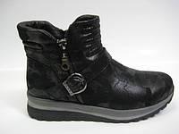 Женские кожаные демисезонные ботинки на платформе, фото 1
