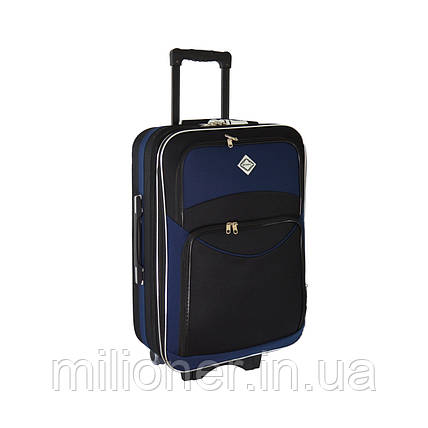 Чемодан Bonro Style (небольшой) черно-т. синий, фото 2