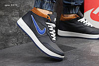 Кроссовки Nike Air (синие) зима, зимние кроссовки найк аир макс