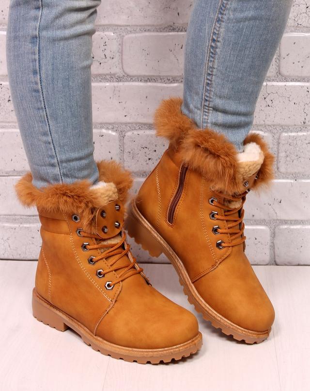 рыжие ботинки Timberland
