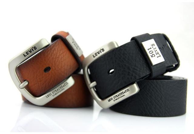b197b684194d Новомодный стильный мужской ремень LEVIS. Классический цвет. Хорошее  качество. Доступная цена.