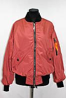 Куртка ветровка женская бомбер, терракот, р 46-52
