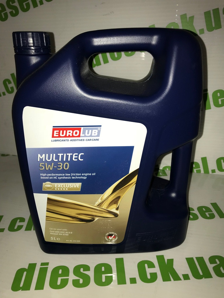 Масло моторное Eurolub 5w30 Multitec 5L Renault RN0700; Ford