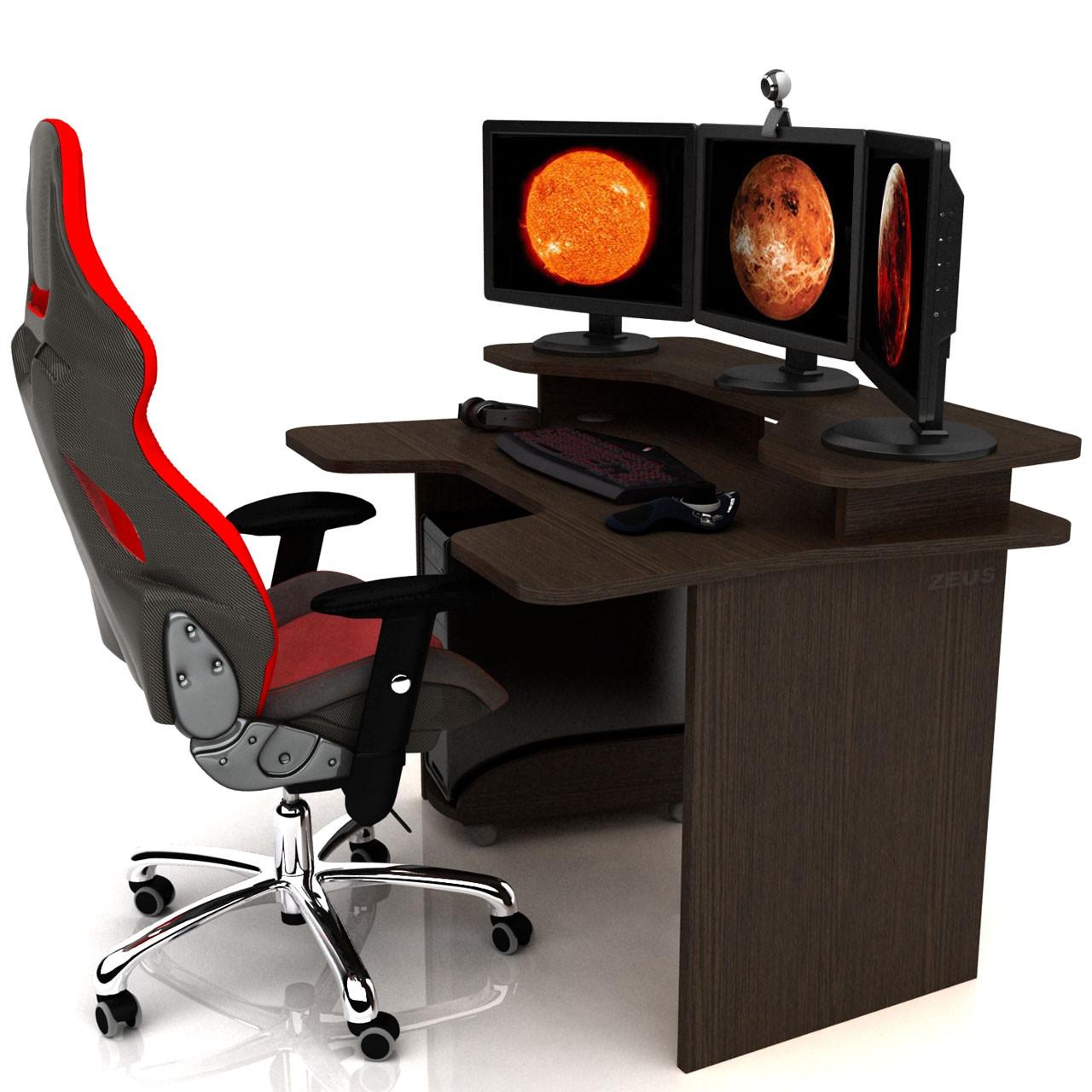 Геймерський ігровий стіл Igrok-2 Венге (Zeus ТМ)