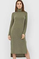 Тепле оливкове плаття-максі Helga