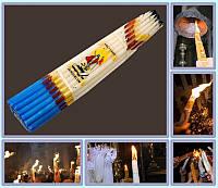 Свечи иерусалимские обожженные белые (33 шт)