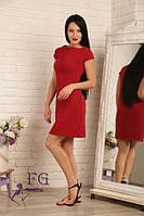 Летнее платье с короткими рукавами бордо 086, фото 1