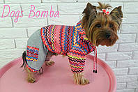 Куртка для собаки розовая