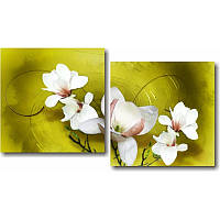 Модульная картина Диптих Цветы из 2 модулей
