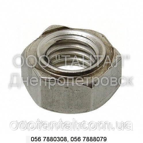 Гайка для приварки нержавіюча від М3 до М16, DIN 929, ТУ 23.1.503-91