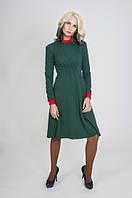 Платье зеленое трикотажное с резинкой П204