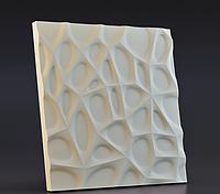 Гипсовая 3D панель настенная Паутинка 50х50