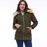 Куртка зимняя, хаки , фото 1