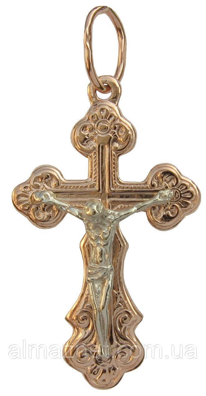Крестик из красного золота Классический