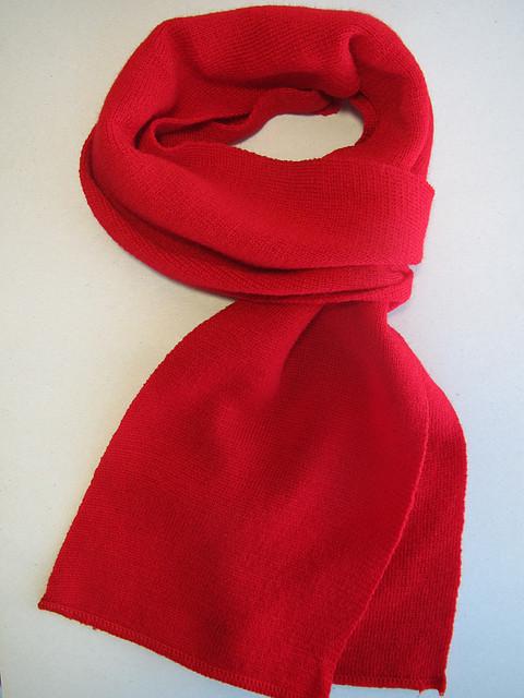 Однотонный шарф