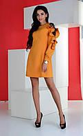 Платье №3511К (р-р.42,44,46).Ткань: костюмка+гипюр. Цвета в ассортименте.
