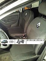 Чехлы на сиденья Renault Logan Sedan (цельный) с 2013- EMC Elegant 358
