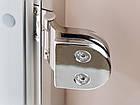 Стеклянная дверь для хамама INTERCOM алюминий, фото 3