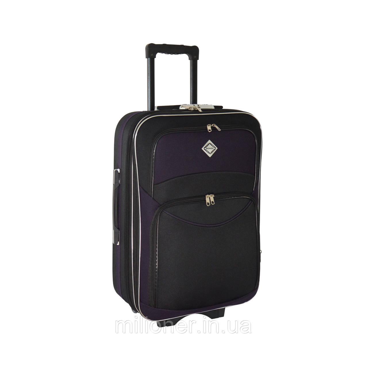 Чемодан Bonro Style (средний) черно-т. фиолетовый