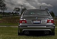 ЮБКА (ДИФФУЗОР) ЗАДНЕГО БАМПЕРА BMW E39 M5 НА ДВЕ ТРУБЫ