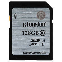 Карта памяти SDXC 128Gb class 10 Kingston UHS-I G2 (SD10VG2 / 128GB)
