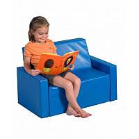 Детский мягкий игровой диван из кожзама