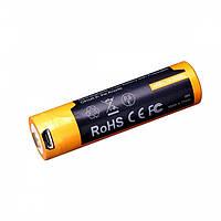 Аккумулятор 18650 Fenix ARB-L18-2600U (2600 mAh) micro usb зарядка