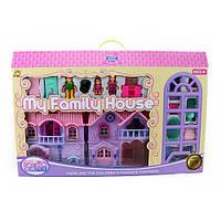 Замок для девочки мебель, фигурки, собачка,на батарейке