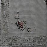 Скатерть из льна с ленточной вышивкой, вафелька, 150х220 см., 410/360 (цена за 1 шт. + 50 гр.), фото 4