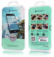 Защитное стекло Samsung Galaxy S8 G950 Full Cover прозрачное (черное) MakeFuture (MG3D-SS8B)