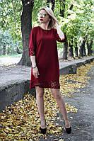 Платье 28 (3 цвета), платье цвета марсала, платье до колена, черное платье