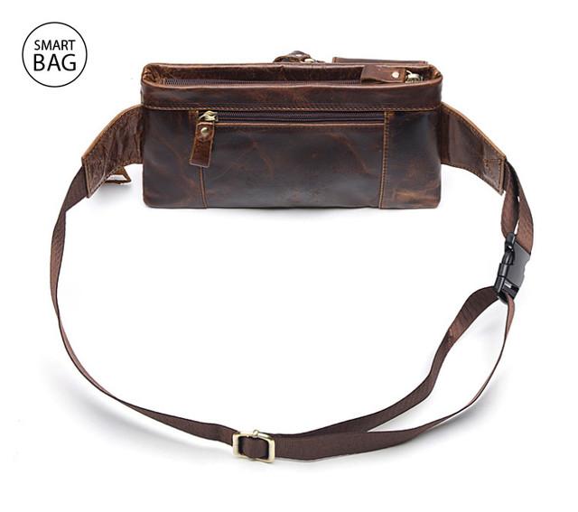 Кожаная сумка на пояс Marrant | коричневая