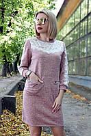 Платье 43 (4 цвета), платье гипюр, платье до колена, черное платье