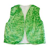 Маскарадный жилет детский зеленый букле