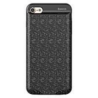 Накладка-дополнительный аккумулятор iPhone 7 Plus Baseus Plaid Backpack 3650MAH Black