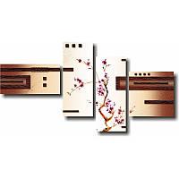 Настенная модульная картина САКУРА из 4 модулей
