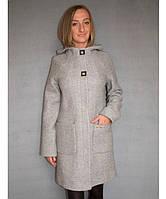 Женское пальто из букле № 52 р.42-48 светло-серый