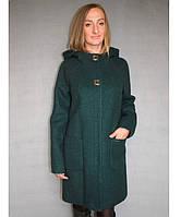 Женское пальто из букле № 52\1 р. 50;52 зеленый