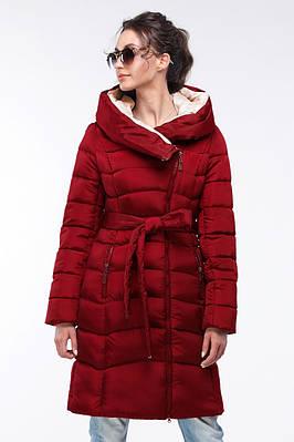Пальто-пуховик женское цвет спелая вишня  продажа, цена в ... 0e4abfba451