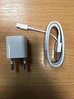Зарядное устройство 1-USB + кабель Lightning белый, 1000mA iVon AD-15