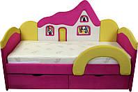 Детская кроватка с матрасом Домик для девочки