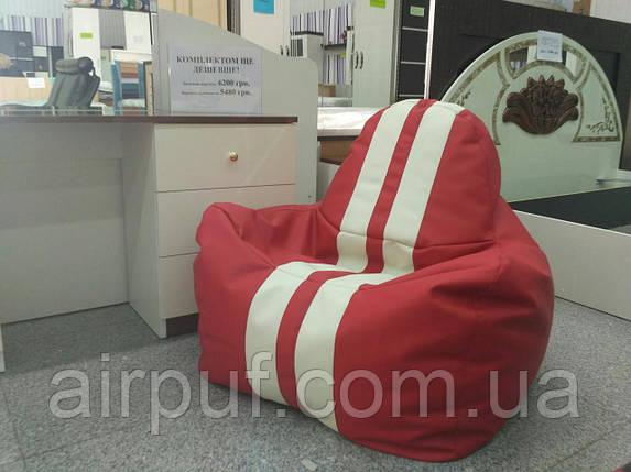 """Кресло-мешок """"Ferrari Sport"""" (материал эко-кожа Зевс), размер XL, фото 2"""