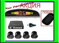 Парктроник 4 сенсора LED дисплей + КОВРИК