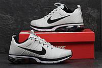 Белые мужские кроссовки Найк, Nike Flywire