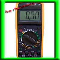 Цифровой мультиметр (тестер) DT9207A + щупы +крона