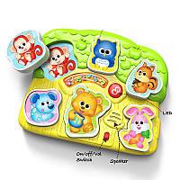 Детская игра музыкальные пазлы для малышей «Животные» 0771-NL WinFun