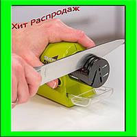 Точилка для ножей и ножниц на батарейках Swifty Sharp Motorized Knife Sharpener (ножеточка Свифти Шарп)