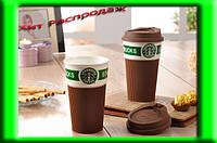 Термокружка керамическая StarBucks 008, чашка керамическая кружка Starbucks, стакан StarBucks, кружка старбакс
